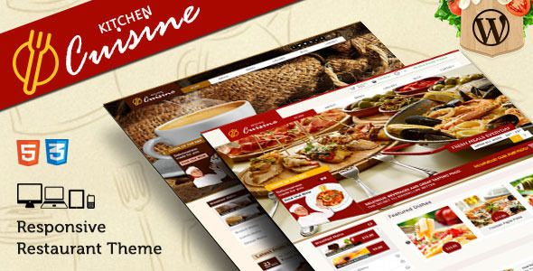 Kitchen Cuisine Restaurants & Café WP Theme