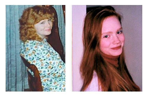 Taken 20 years apart, but so much similarity between this mother and daughter