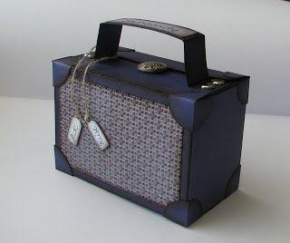Spaß mit Stampin' Up beim Stempeln und Basteln: Bastelanleitung kleiner Koffer für Abschiedsgeschenk - In{k}spire_me Challenge 058