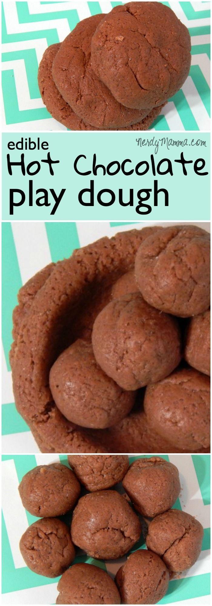 Edible Hot Chocolate Play Dough Recipe