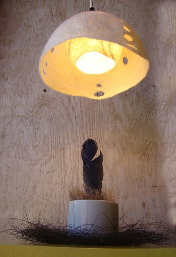 From Vessel to Light - felt lampshade