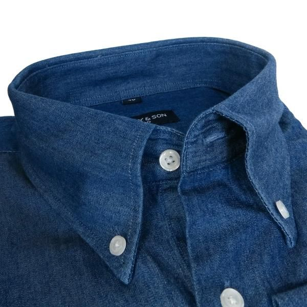Discover the all-new Denim Shirt. This with Button Down Collar. Our denim fabric is very soft and easy iron.     Button Down Collar  Barrel Cuff, angled cut Sli