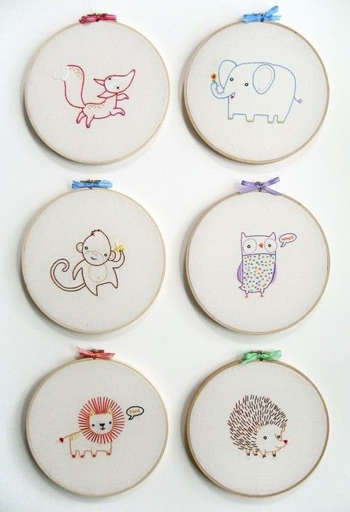 animal hand embroidery designs