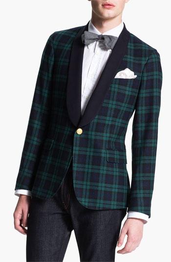 Gant Rugger 'Black Watch Tux' One Button Blazer available ...