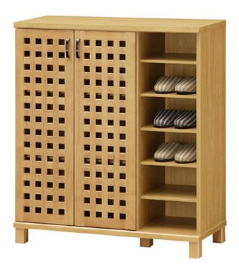 ii-kaguyahime | Rakuten Global Market: Wooden shoe box シューズボックス & slippers rack, a popular Asian taste authentic lattice shoe rack shoe box, safe eco-painted low formaldehyde building standards F specs, breathable and excellent, long boots storage-friendly, holds up to 24 feet