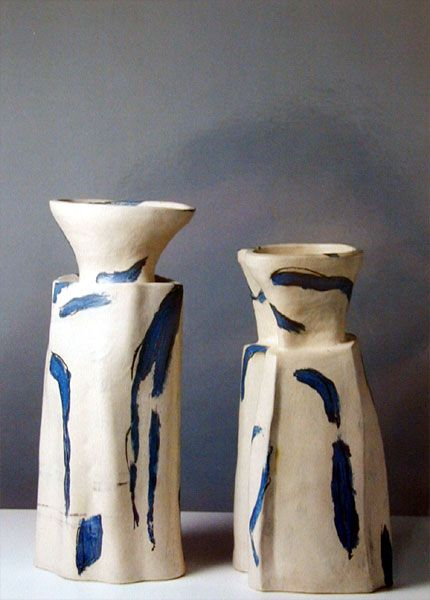 Alison Britton, UK. b. 1948 Born in Harrow, Middlesex, she completed her studies at the Royal College of Art under the tutelage of Hans Coper. She is recognised as one of Europe's leading potters and was awarded the OBE in 1990. She is Senior Tutor in Ceramics at the Royal College of Art, an author, curator and ceramist, having her own studio in London