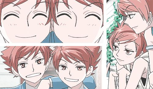 """The characters Hikaru and Kaoru, from the series """"Ouran Highschool Host Club."""" >> I really like the one at the top, when each twin takes a turn looking through the eyehole in the door. :)"""