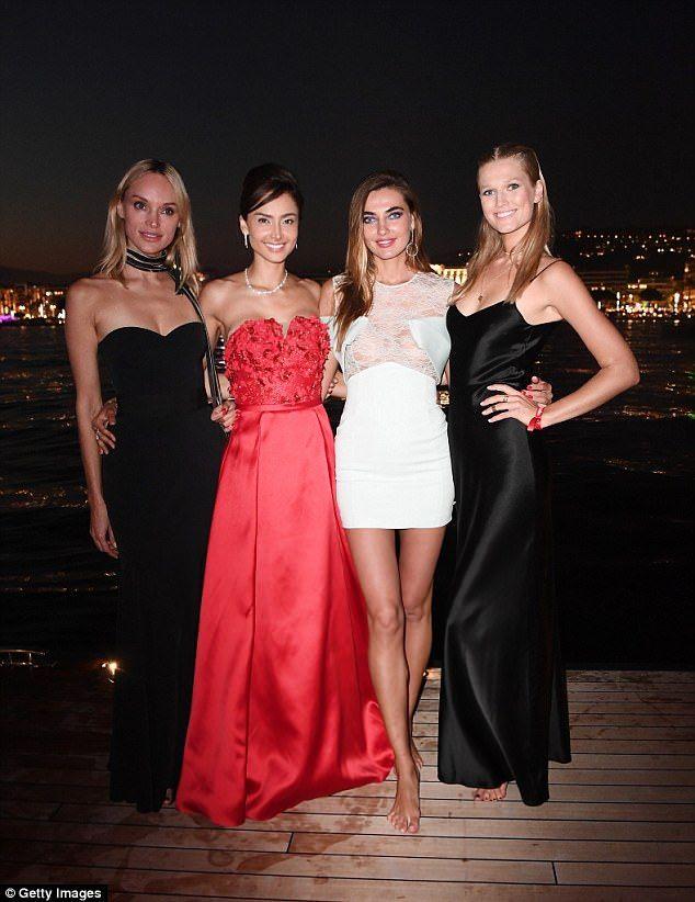Strike a pose: Toni posed alongside Inna Zobova, Patricia Contreras and Alina Baikova...