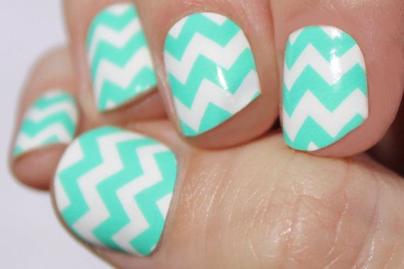 Cute and classy look without taking up hours in a salon!  https://www.etsy.com/listing/228480843/chevron-nail-decals-chevron-nail-art?ref=shop_home_active_7