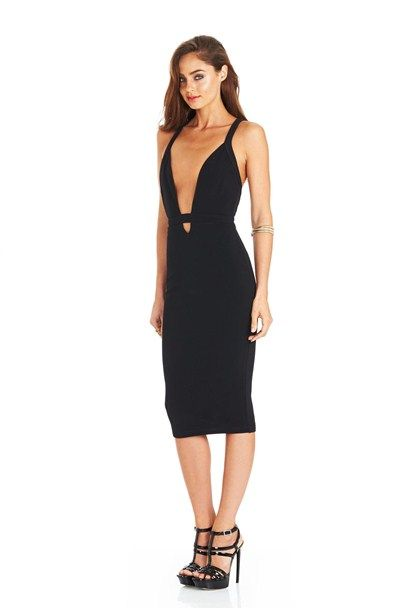 Black/Black Eva Bodycon Dress : Buy on Sale Now