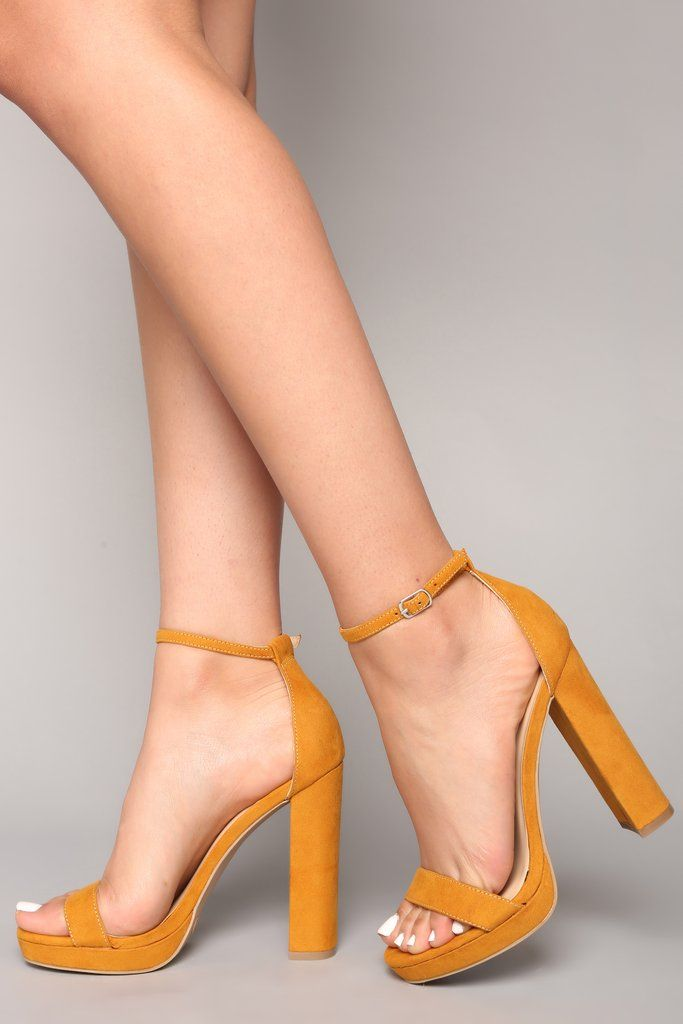 131711df44a Your Biggest Fan Heels - Yellow