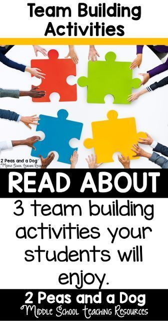 Three quick team building activities to help build your classroom or school community from the 2 Peas and a Dog blog.