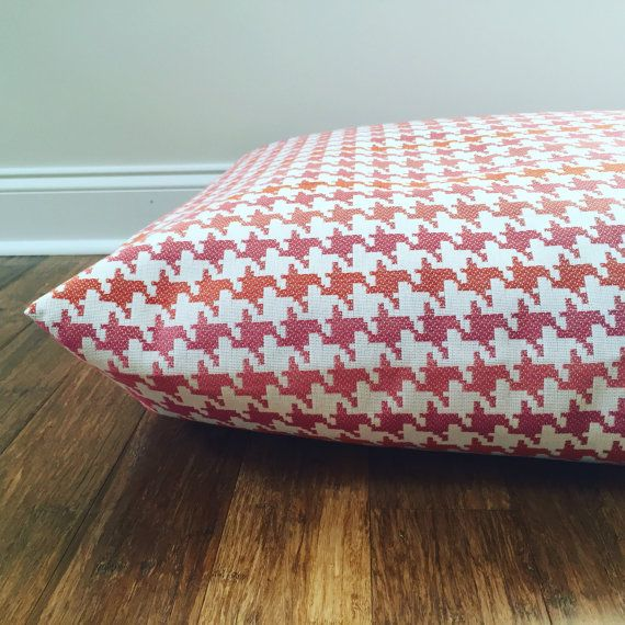 Pink Houndstooth Dog Bed Covers pink Dog bed by PlushPupdogbeds