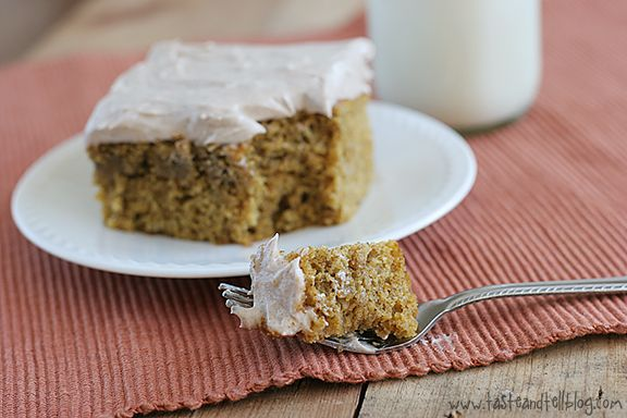 Pumpkin Cake with Cinnamon Cream Cheese Frosting ... my grandma use to ...