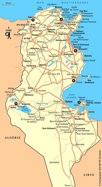Carte Tunisie - Plan Tunisie