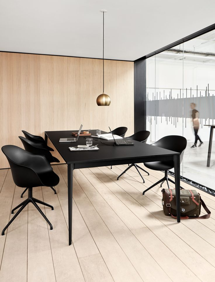 Office modern conference room design modern black big table torino adelaide chair wooden floor  BoConcept Trójmiasto #bctrojmiasto