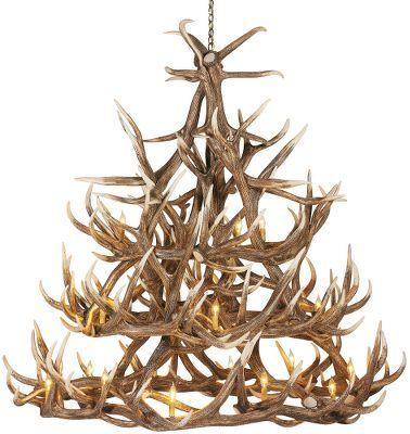 Cabela 39 s 30 antler reproduction elk chandelier foyers for Cabela s tackle craft catalog