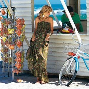 Выкройка длинного платья с оборками