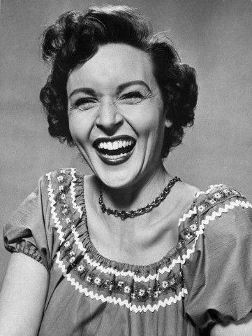 Betty White laughing