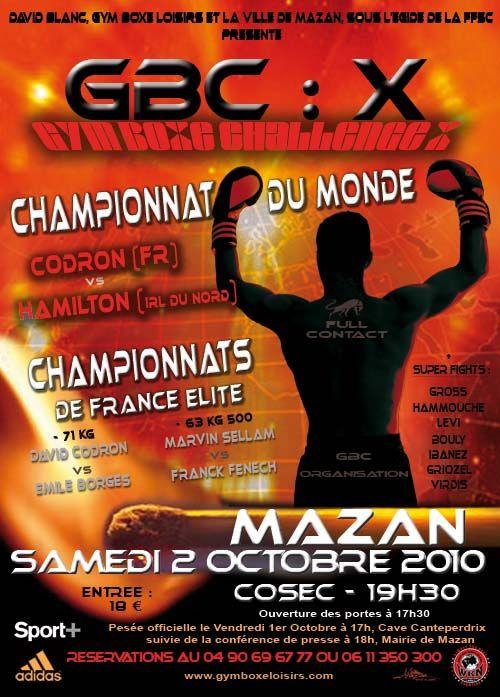 10ème édition #GymBoxeChallenge X Championnat du monde Fullcontact #Codron vs #GaryHamilton