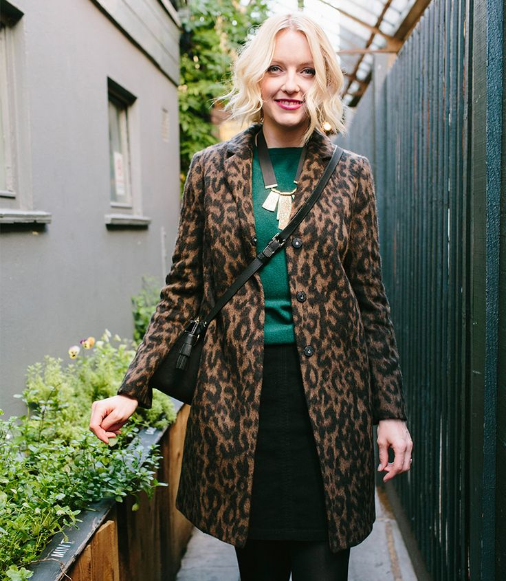 Lauren Laverne at her favourite pub at the weekend wearing a Boden leopard print coat and cashmere