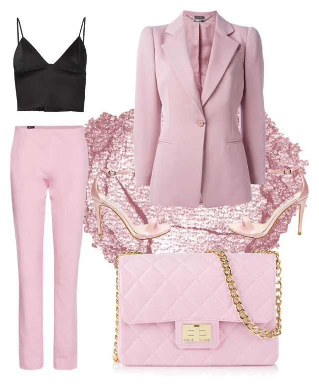 """Pink"" by rowan-na-daw on Polyvore featuring Alexander McQueen, Jil Sander Navy, Betsey Johnson, T By Alexander Wang and Design Inverso"