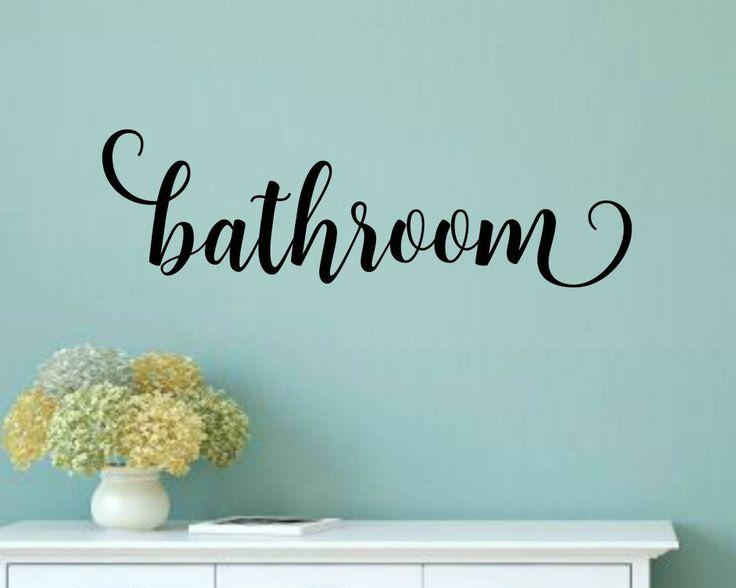 Bathroom Door Decal Bathroom Vinyl Decal Bathroom Wall Decal Bathroom Decal  Bathroom Decal Bathroom Vinyl Lettering