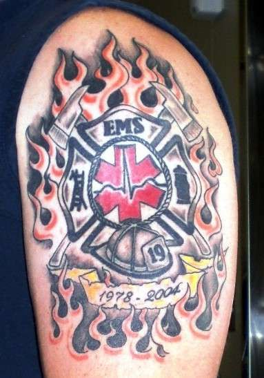 firefighter tattoo | EMS Remembrance Tattoo tattoo