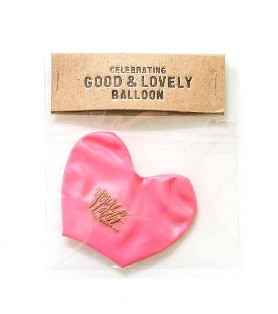 Good and Lovely Balloon by thimblepress on Etsy, $5.00