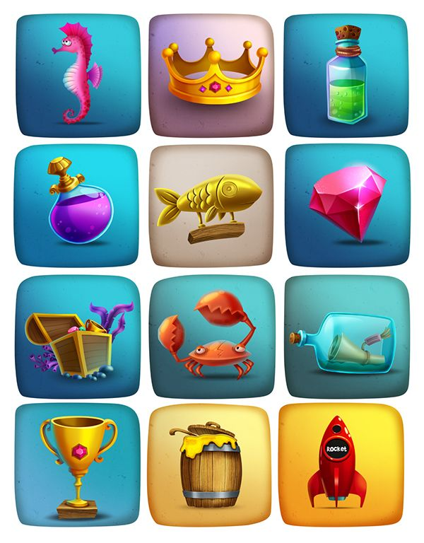 Game icon on Behance