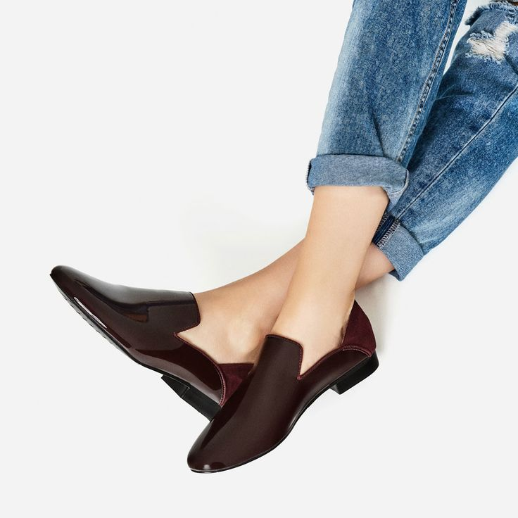 FLAT ASYMMETRIC DESIGN SHOES-View all-SHOES-WOMAN | ZARA United States