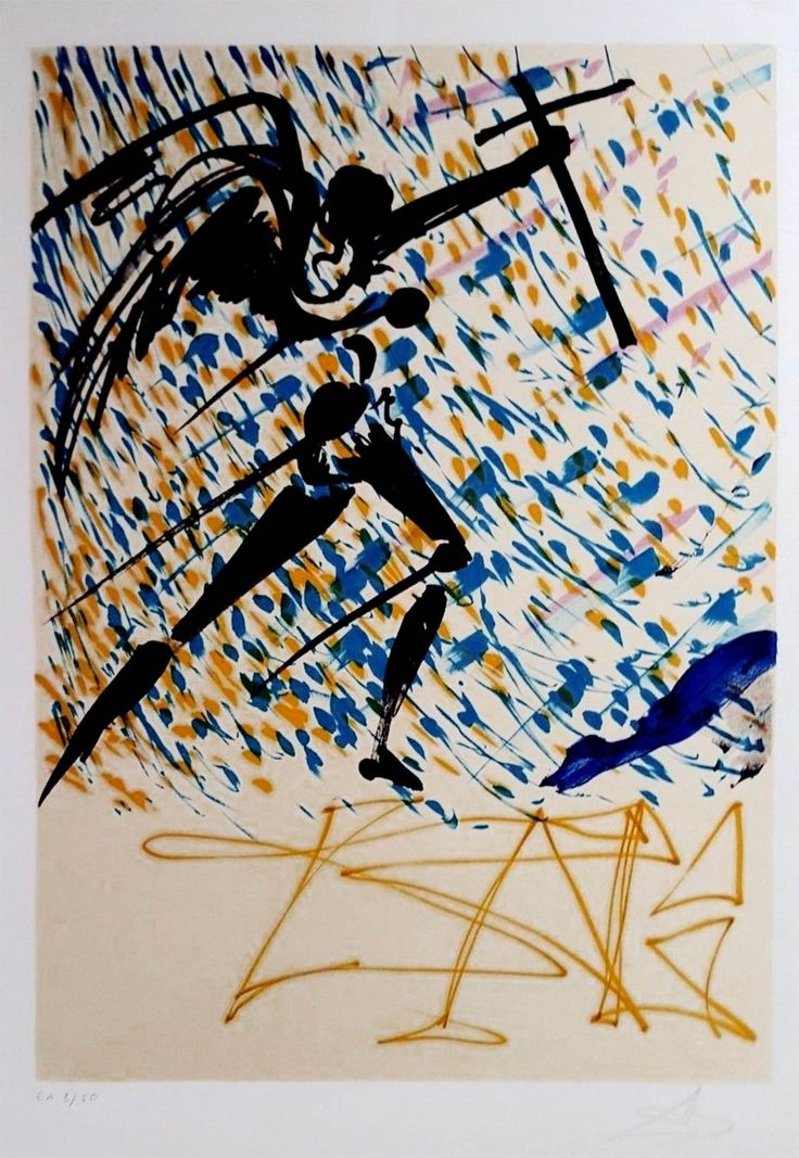 """Salvador Dalí: """"L´esaltazione Mistica (La Jungla Humana-Les Vitraux) (1974) EA…"""