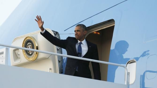 Safe journey, Mr President - leaving Joint Base Andrews this evening for his visit to Kenya and Ethiopia.