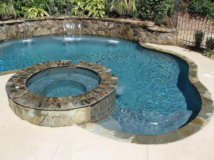 Pool Designs With Spa 423 best pools, spas & firepits images on pinterest | architecture