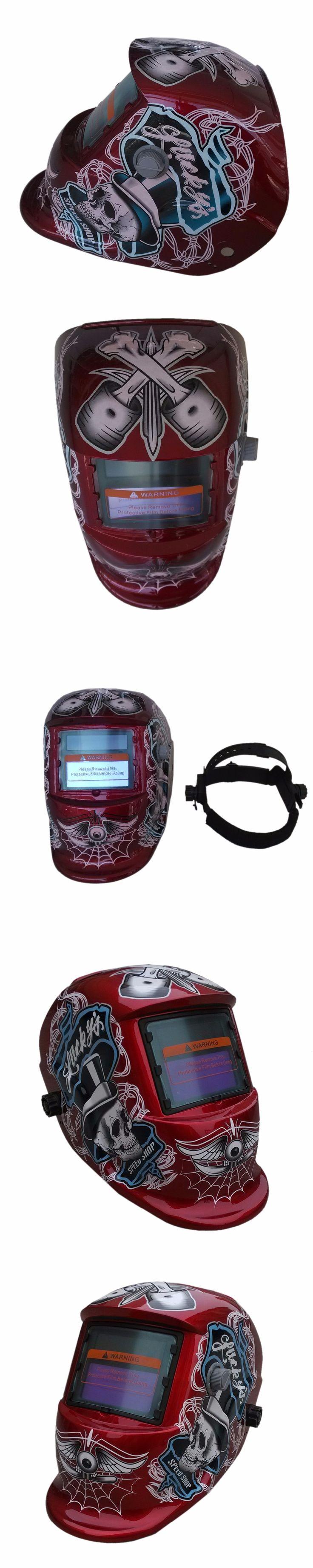 Newest KLT-HDRD Red Skull Solar Auto darkening TIG MIG MMA Electric Welding Mask Helmet Welder Cap Lens For Welding Machine