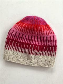 Shibui knits cliff hat- link to free pattern on Ravelry. Might do this in blue and brown for one of the boys