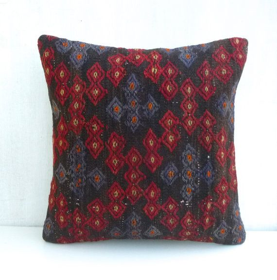 Embroidered Kilim Throw Pillow