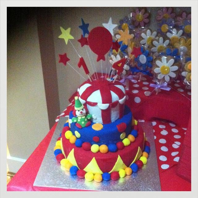 Circus cake ( Stephanie's b'day)