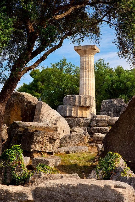 Ruins of ancient #Olympia, #Greece
