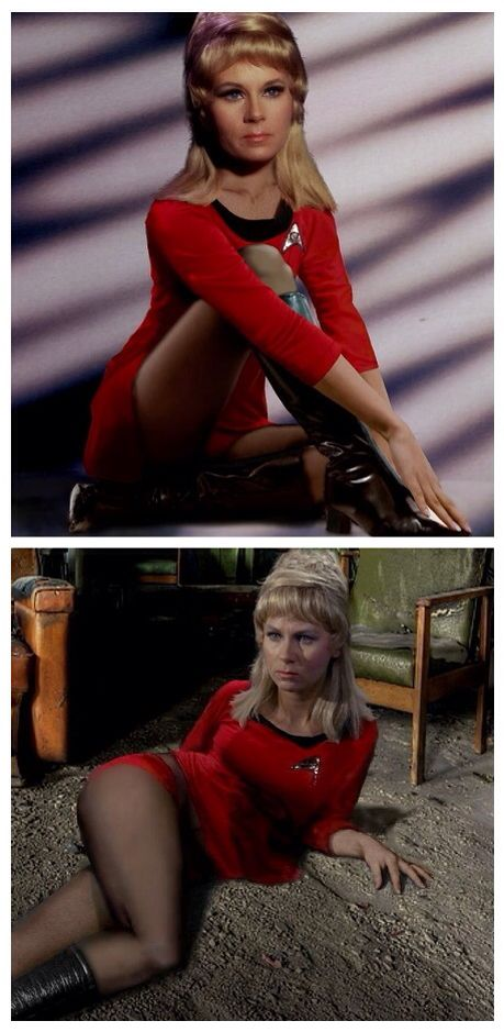 Yeoman Rand!!! ' Ah good ol basket head' During the 5 years of traveling of the Starship Enterprise, Captain Kirk had sex with many women - humans or not.
