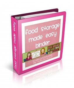 Ebook with complete system to planning, buying, and using your Food Storage. Checklists, Eprep info, Recipes, Information and articles.