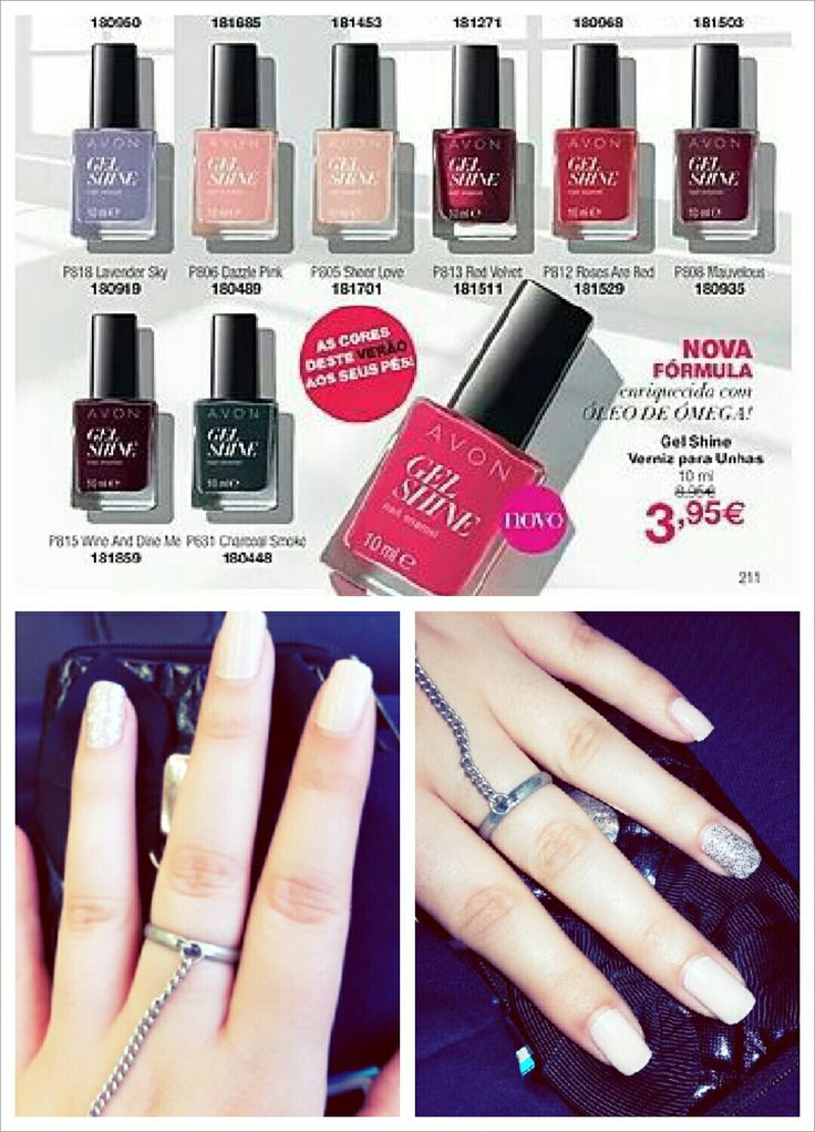 #AVON #gelshine  2 weeks and continues wonderful 😊😊 I love this new formula is good for your nails and have beautiful colors. Try it 😉💕💕💕