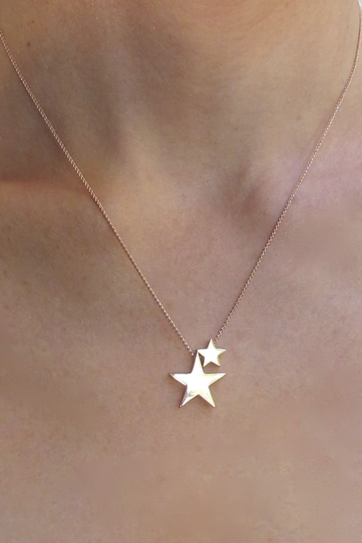 http://downthatlittlelane.com.au/argenton-design/product/1298-9ct-rose-gold-and-sterling-silver-double-stars-necklace