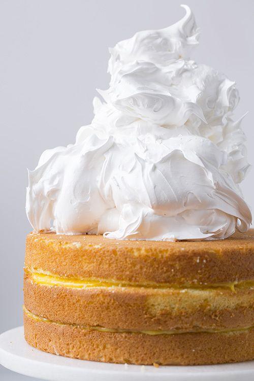 ♔ Orange Chiffon Cake with Orange Filling and Meringue