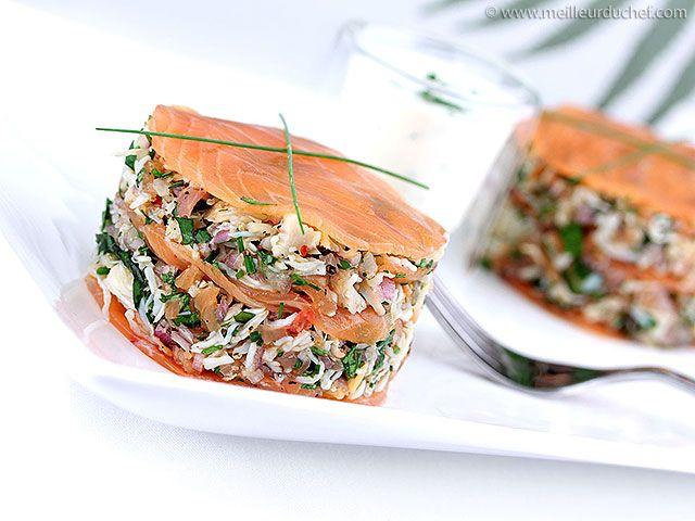Mille-feuille de crabe au saumon fumé - Meilleur du Chef                                                                                                                                                                                 Plus
