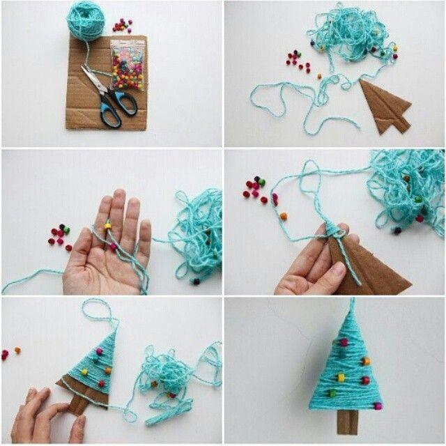Только гляньте на эту прелесть! Можно сделать маленькую елочку как новогоднее украшение, а можно и побольше, чтобы украсить комнату  Фото Нади @my_dear_dany