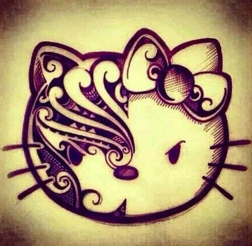 looks like a pretty sweet tribal hello kitty, never thought of mixing the two...