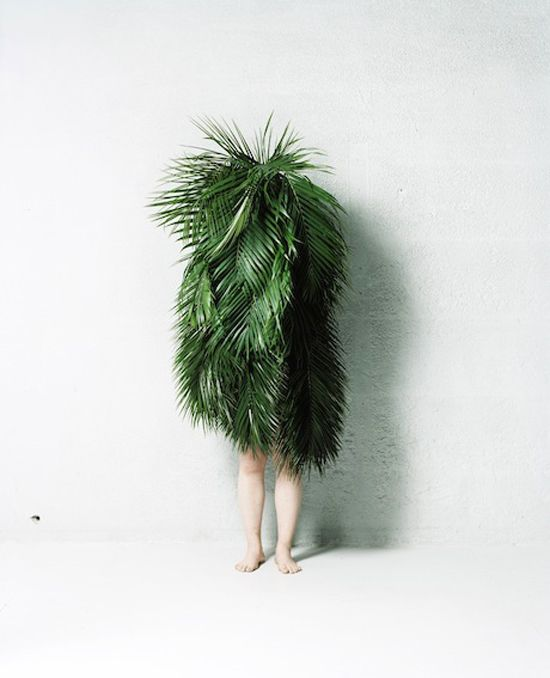Makoto Azuma - Leaf Man  -- strong connotations of nature - the importance of nature // disguise??