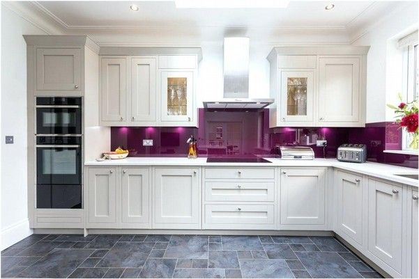 10 Sweet Purple Kitchen Ideas A Really Very Charming Design Farm Animal Decor Kitchen Purple Kitchen Brown Cabinets