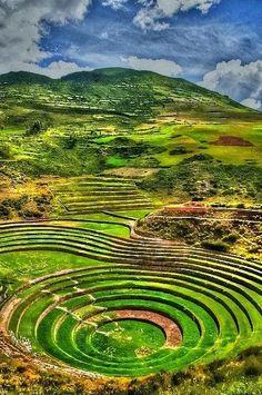 Sacred Valley,Incas,Peru: les terrasses de moray